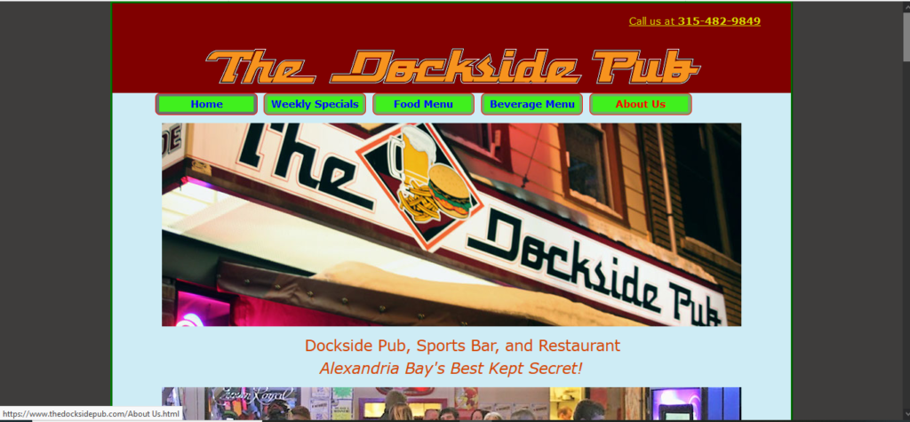 Dockside Pub Page
